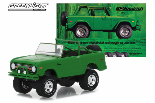 1971 Ford Bronco, Green - Greenlight 29942/48 - 1/64 Scale Diecast Model Toy Car