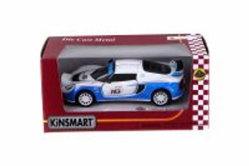 2012 Lotus Exige R-GT #16, White - Kinsmart 5362WW - 1/32 Scale Diecast Model Toy Car