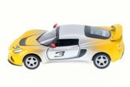 2012 Lotus Exige S #3, Fading Yellow - Kinsmart 5361DG - 1/32 Scale Diecast Model Toy Car