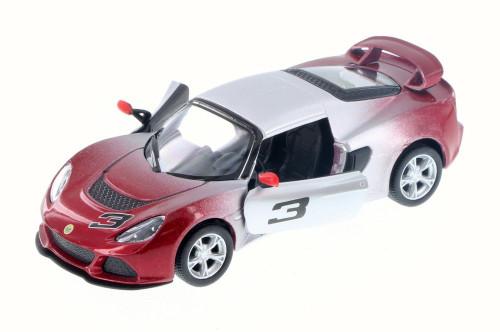 2012 Lotus Exige S #3, Fading Red - Kinsmart 5361DG - 1/32 Scale Diecast Model Toy Car