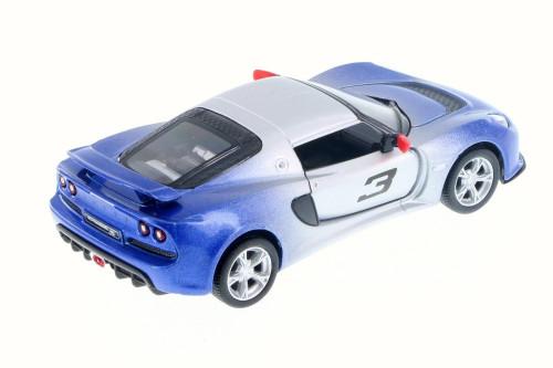 2012 Lotus Exige S #3, Fading Blue - Kinsmart 5361DG - 1/32 Scale Diecast Model Toy Car