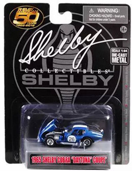 1965 Shelby Cobra Daytona Coupe #26, Metallic Blue With White Stripes - Shelby SC16403M - 1/64 scale Diecast Model Toy Car
