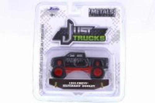 1999 Chevy Silverado Dooley, Black - Jada 14020-W22 - 1/64 Scale Diecast Model Toy Car