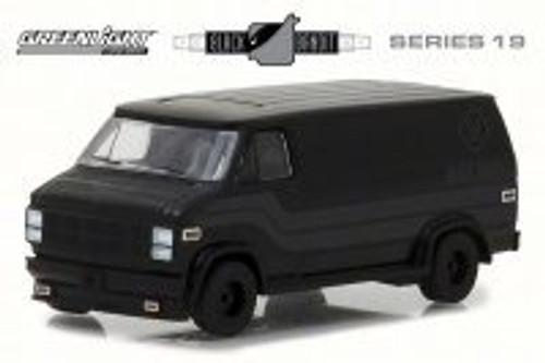 1980 GMC Vandura, Black - Greenlight 27950C/48 - 1/64 Scale Diecast Model Toy Car