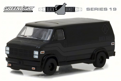 1980 GMC Vandura, Black - Greenlight 27950C/48 - 1/64 Scale Diecast Model Toy Car