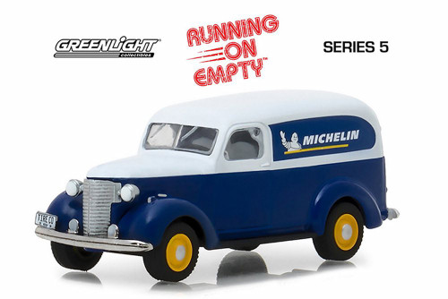 1939 Chevy Panel Truck Michelin, Michelin - Greenlight 41050B/48 - 1/64 Scale Diecast Model Toy Car