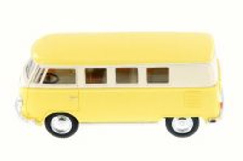 1962 Volkswagen Classic Bus, Pastel Yellow - Kinsmart 5060DY - 1/32 Scale Diecast Model Toy Car