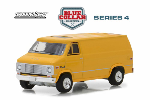 1972 GMC Vandura, Yellow - Greenlight 35100C/48 - 1/64 Scale Diecast Model Toy Car