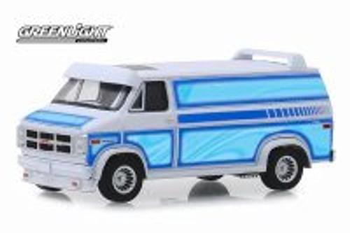 1983 GMC Vandura Custom Van, White with Light Blue - Greenlight 30094/48 - 1/64 scale Diecast Model Toy Car