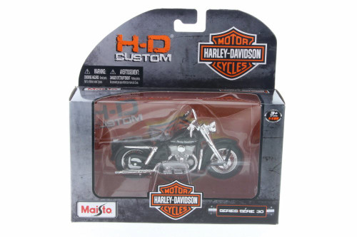 1952 Harley Davidson Model K, Black - Maisto 31360-30 - 1/18 Scale Diecast Model Toy Car