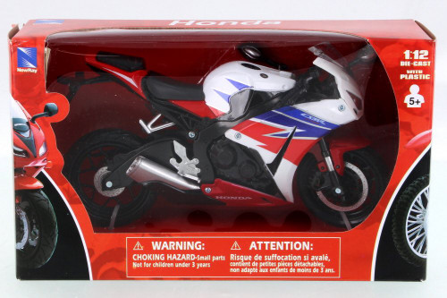 Honda CBR1000RR Motorcycle, Black w/ Red - New Ray 57793 - 1/12 Scale Vehicle Replica