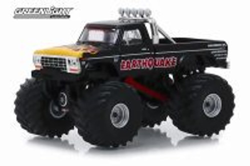 1975 Ford F-250 Monster Truck, Earthquake - Greenlight 49040/48 - 1/64 scale Diecast Model Toy Car