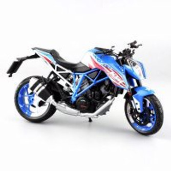 2015 KTM 1290 Super Duke R Patriot Edition, Blue - Automaxx 605102 - 1/12 Scale Diecast Model Toy Car