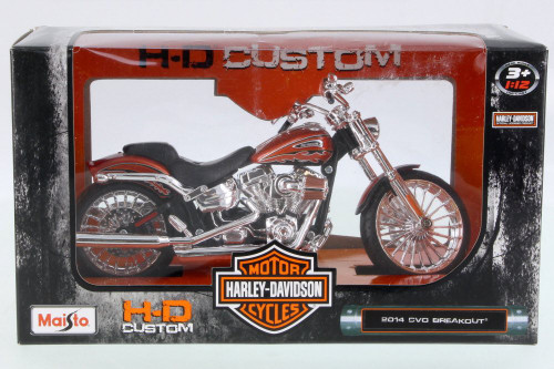 2014 Harley-Davidson CVO Breakout Motorcycle, Orange - Maisto 32327 - 1/12 Scale Vehicle Replica