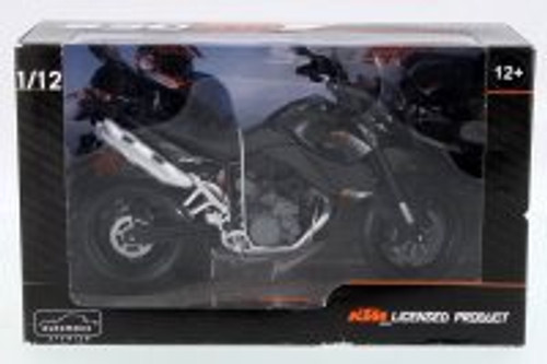 KTM 990SM Motorcycle, Black - Automaxx 601702BK - 1/12 Scale Vehicle Replica