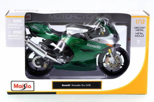 Benelli Tornado Tre 1130 Motorcycle, Green - Maisto 31156 - 1/12 Scale Vehicle Replica