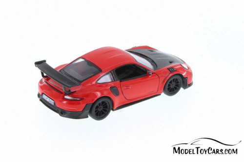 Porsche 911 GT2 RS Hard Top, Red - Kinsmart 5408D - 1/36 Scale Diecast Model Toy Car