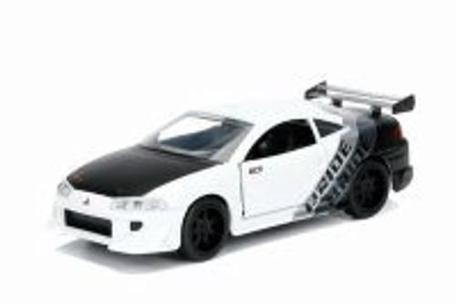 1995 Mitsubishi Eclipse Hard Top, White - Jada 99130DP1 - 1/32 Scale Diecast Model Toy Car