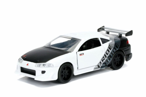 1995 Mitsubishi  Eclipse Hard Top, White - Jada 99130DP1 - 1/32 Scale Diecast Model Toy Car