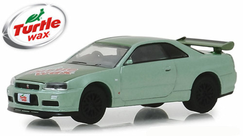 2000 Nissan Skyline GTR, Turtle Wax - Greenlight 30017/48 - 1/64 Scale Diecast Model Toy Car