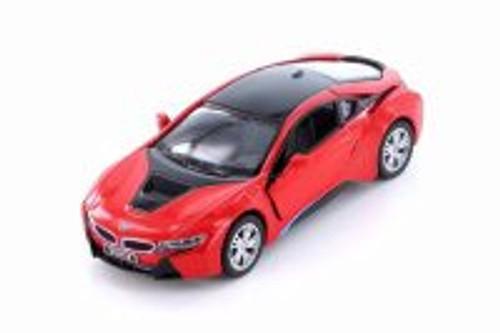 BMW i8 Hard Top, Red - Kinsmart 5379DA - 1/36 scale Diecast Model Toy Car
