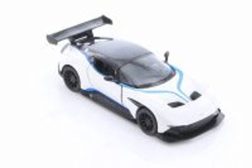 2016 Aston-Martin Vulcan with Decals Hardtop, White - Kinsmart 5407DF - 1/38 scale Diecast Model Toy Car
