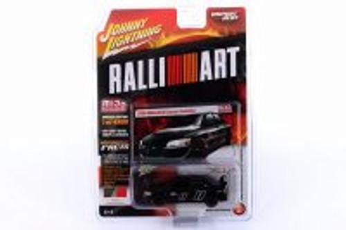 2004 Mitsubishi Lancer Evolution, Black - Johnny Lightning JLCP7168-24 - 1/64 scale Diecast Model Toy Car