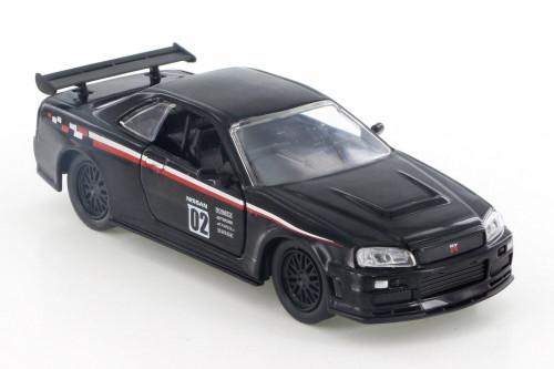 2002  Nissan Skyline GT-R Hard Top, Black - Jada 99140 - 1/32 Scale Diecast Model Toy Car