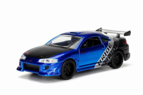 1995 Mitsubishi  Eclipse Hard Top, Blue - Jada 99126WA1 - 1/32 Scale Diecast Model Toy Car