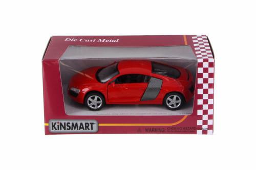 Audi R8, Red - Kinsmart 5315WR - 1/36 Scale Diecast Model Toy Car