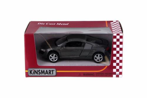 Audi R8, Gray - Kinsmart 5315WGY - 1/36 Scale Diecast Model Toy Car