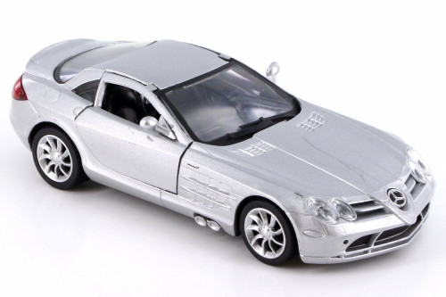Mercedes-Benz SLR McLaren, Silver - New Ray SS-52291A - 1/32 Scale Diecast Model Toy Car
