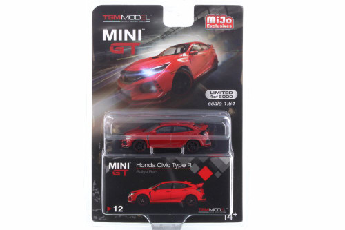 Honda Civic Type R, Red - Mini GT MGT00012-MJ - 1/64 scale Diecast Model Toy Car