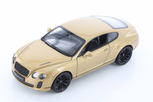 Bentley Continental Hard Top, Gold - Welly 24018/4D - 1/24 scale Diecast Model Toy Car