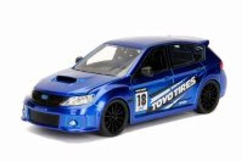 2012 Subaru Impreza WRX STI Hard Top, Blue - Jada 30389WA1 - 1/24 Scale Diecast Model Toy Car