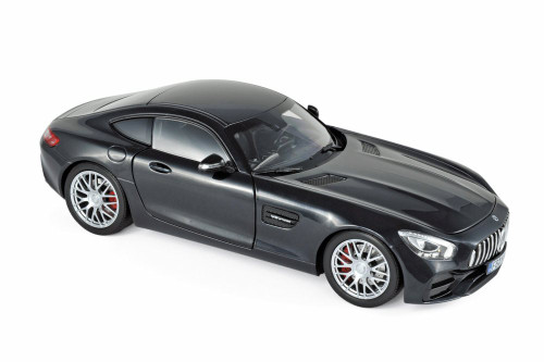 2018 Mercedes-Benz AMG GT S Hard Top, Black Metallic - Norev 183497 - 1/18 scale Diecast Model Toy Car