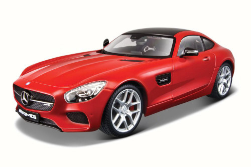 Mercedes-Benz AMG GT Hardtop, Red - Maisto 38131R/6 - 1/18 scale Diecast Model Toy Car