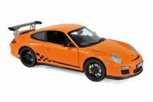 2010 Porsche 911 GT3 RS Hardtop, Orange - Norev 187562 - 1/18 scale Diecast Model Toy Car