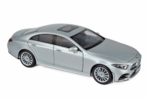 2018 Mercedes-Benz CLS-Class Hard Top, Silver - Norev 183489 - 1/18 Scale Diecast Model Toy Car