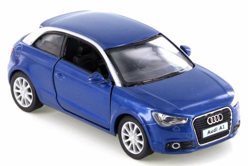 2010 Audi A1, Blue - Kinsmart KT5350D - 1/32 Scale Diecast Model Toy Car