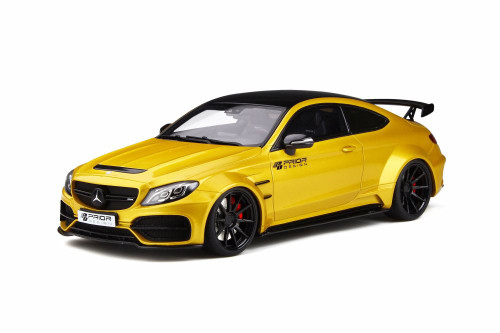 Mercedes-Benz Prior Design PD65CC C Class 63 AMG Coupe, Yellow - GT Spirit GT235 - 1/18 scale Resin Model Toy Car