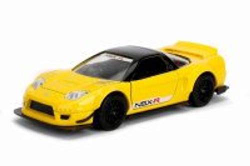 2002 Honda NSX Wide Body Hard Top, Yellow - Jada 98571WA1 - 1/32 scale Diecast Model Toy Car