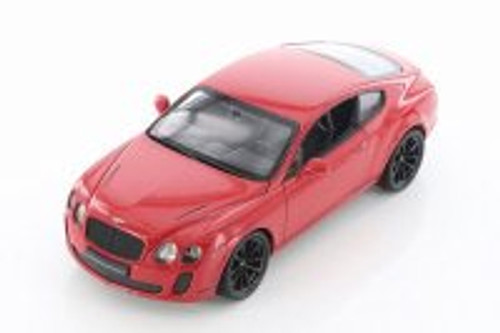 Bentley Continental Hard Top, Red - Welly 24018/4D - 1/24 scale Diecast Model Toy Car