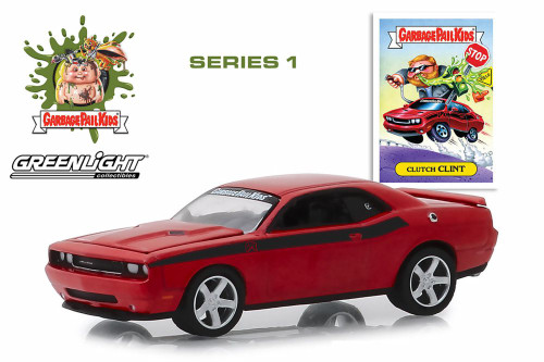 2012 Dodge Challenger, Garbage Pail Kids- Clutch Clint - Greenlight 54010F/48 - 1/64 scale Diecast Model Toy Car
