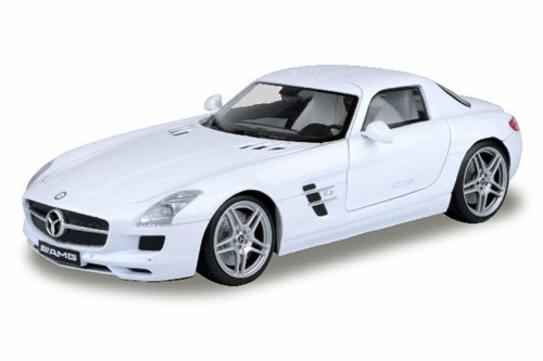 Mercedes- Benz SLS AMG Hard Top, White - Motormax 79162W - 1/18 scale Diecast Model Toy Car