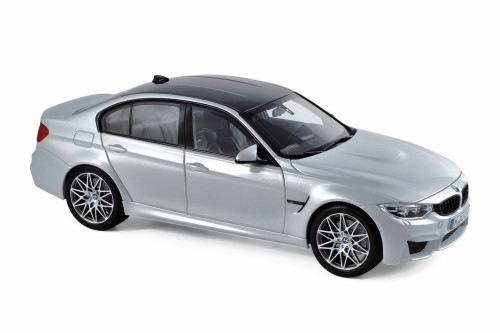 2017 BMW M3 Competition Hard Top, Silver - Norev 183235 - 1/18 scale Diecast Model Toy Car