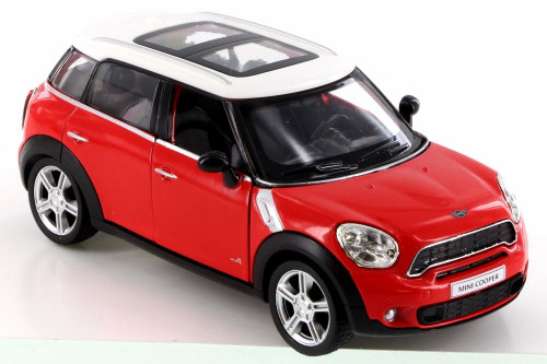 Mini Cooper S Countryman, Red - RMZ City 555001 - Diecast Model Toy Car