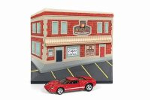 2005 Ford GT, Cars and Coffee Façade - Johnny Lightning JLDR004/24 - 1/64 Scale Diecast Model Toy Car