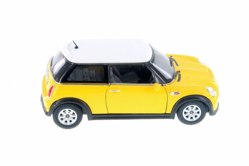 MINI Cooper S Hard Top, Yellow - Kinsmart 5059SD - 1/28 Scale Diecast Model Toy Car