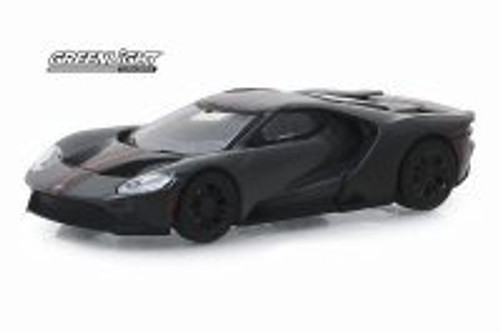 2019 Ford GT Carbon Series, Grey with carbon and orange stripes - Greenlight 30039/48 - 1/64 Scale Diecast Model Toy Car